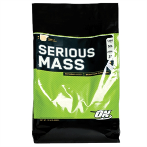 OPTIMUM NUTRITION SERIOUS MASS – VANILLA 12 LBS