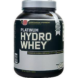 OPTIMUM NUTRITION PLATINUM HYDROWHEY – SUPERCHARGED STRAWBERRY 3.5 LBS