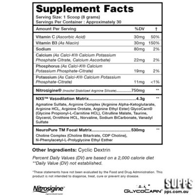 ON PLATINUM PRE-WORKOUT – TWISTED APPLE 30 SERVINGS