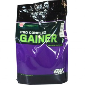 OPTIMUM NUTRITION PRO COMPLEX GAINER – STRAWBERRIES AND CREAM 10 LBS