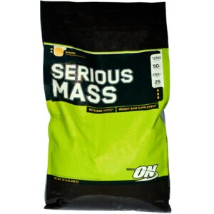 OPTIMUM NUTRITION SERIOUS MASS – BANANA 12 LBS