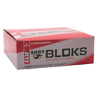 CLIF BAR SHOT BLOKS ELECTROLYTE CHEWS – STRAWBERRY