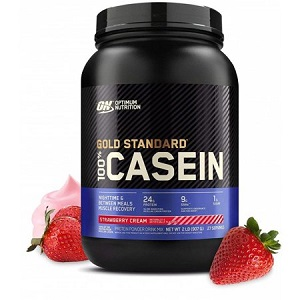 GOLD STANDARD 100% CASEIN – STRAWBERRY CREAM