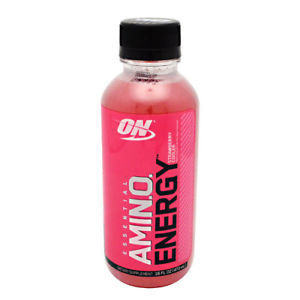 OPTIMUM NUTRITION AMINO ENERGY RTD – 12 EACH STRAWBERRY COOLER