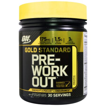 OPTIMUM NUTRITION GOLD STANDARD PRE-WORKOUT – PINEAPPLE