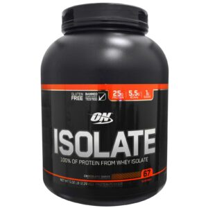 OPTIMUM NUTRITION ON ISOLATE – CHOCOLATE SHAKE 5 LBS