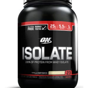 OPTIMUM NUTRITION ISOLATE – VANILLA SOFTSERVE 1.62 LBS