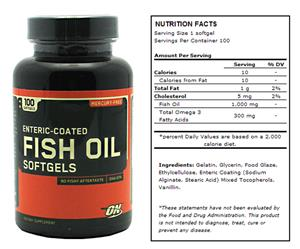 OPTIMUM NUTRITION FISH OIL