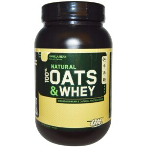 OPTIMUM NUTRITION NATURAL 100% OATS AND WHEY – VANILLA BEAN 3 LBS